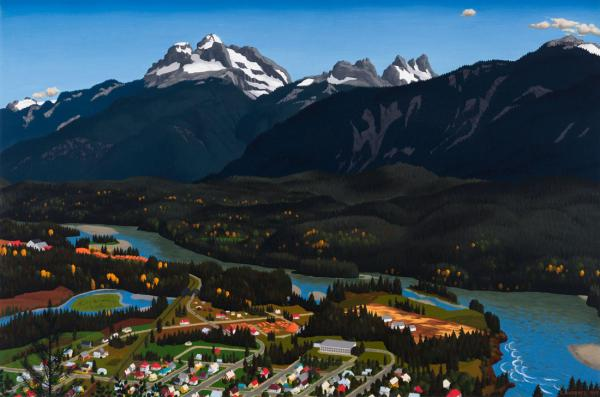 Edward John (E.J.) Hughes - Above Revelstoke - oil on canvas - 32 x 48 in, 81.3 x [...]