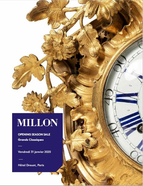Vente Tableaux Anciens, Mobilier et Objets d'Art chez Millon et Associés Paris : 344 lots