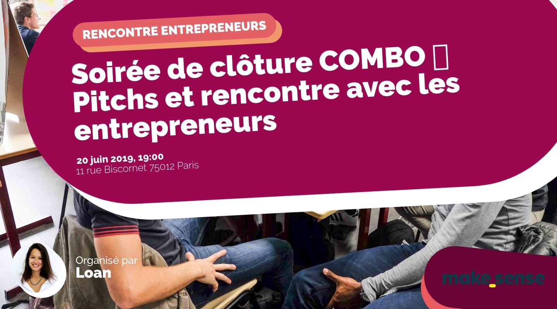Image of the event : Soirée de clôture COMBO 🔥 Pitchs et rencontre avec les entrepreneurs