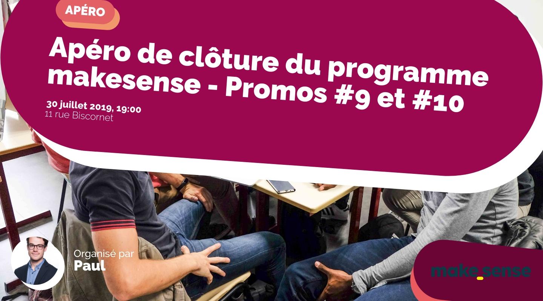 Image of the event : Apéro de clôture du programme makesense - Promos #9 et #10