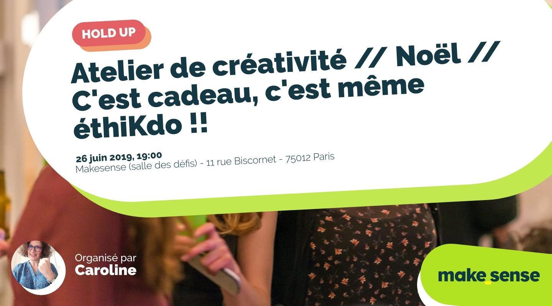 Image de l'événement : Atelier de créativité // Noël // C'est cadeau, c'est même éthiKdo !!