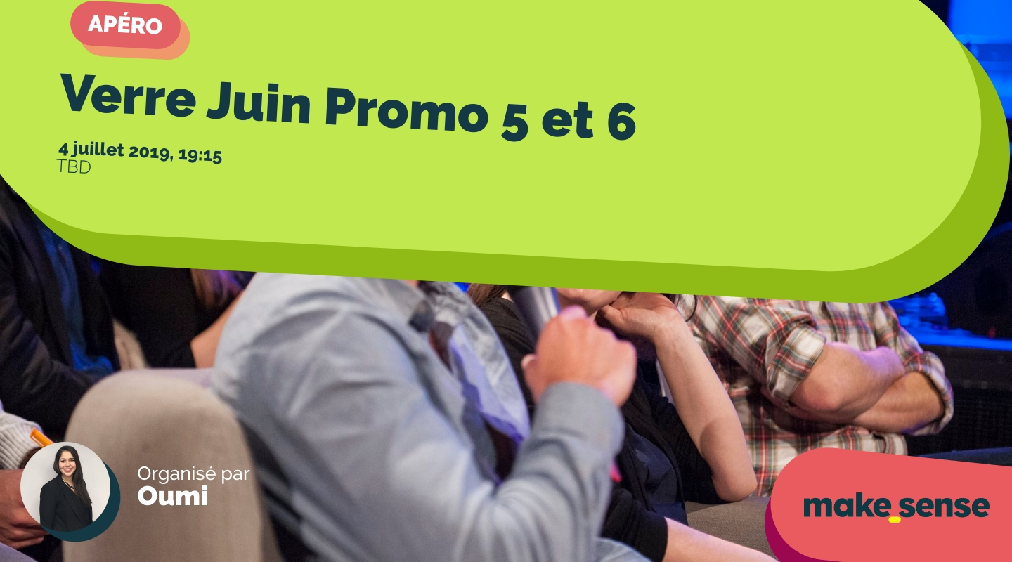 Image of the event : Verre Juin Promo 5 et 6