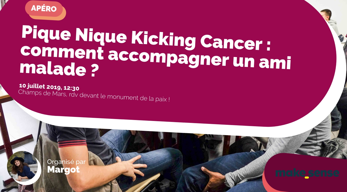 Image of the event : Pique Nique Kicking Cancer : comment accompagner un ami malade ?