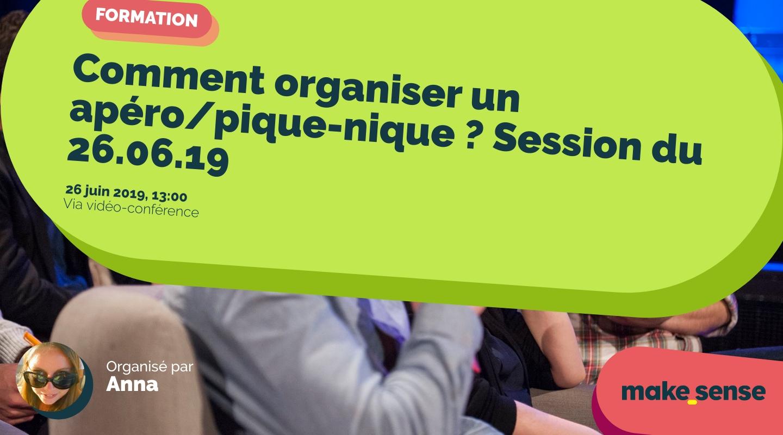 Image de l'événement : Comment organiser un apéro/pique-nique ? Session du 26.06.19