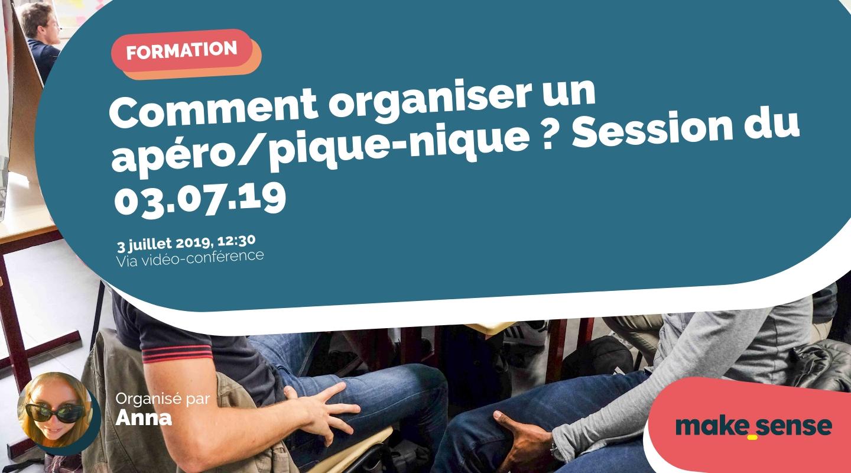 Image de l'événement : Comment organiser un apéro/pique-nique ? Session du 03.07.19