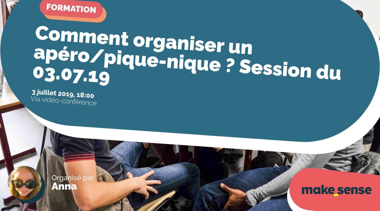 Image of the event : Comment organiser un apéro/pique-nique ? Session du 03.07.19
