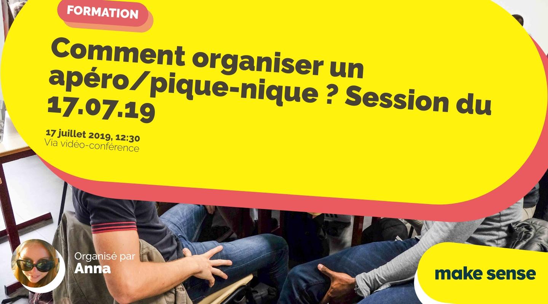 Image de l'événement : Comment organiser un apéro/pique-nique ? Session du 17.07.19