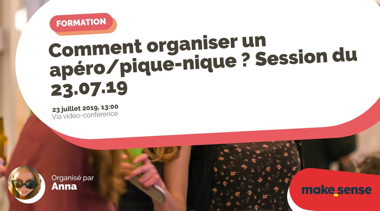 Image de l'événement : Comment organiser un apéro/pique-nique ? Session du 23.07.19