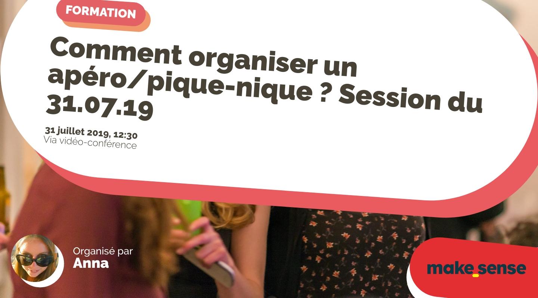 Image de l'événement : Comment organiser un apéro/pique-nique ? Session du 31.07.19