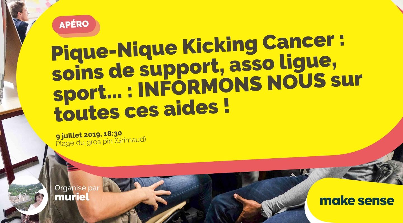 Image de l'événement : Pique-Nique Kicking Cancer : soins de support, asso ligue, sport... : INFORMONS NOUS sur toutes ces aides !