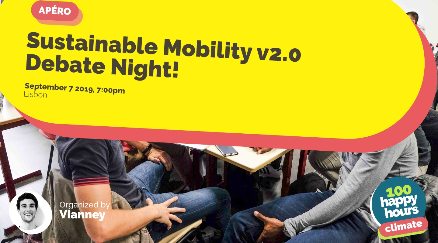 Image de l'événement : Sustainable Mobility v2.0 Debate Night!