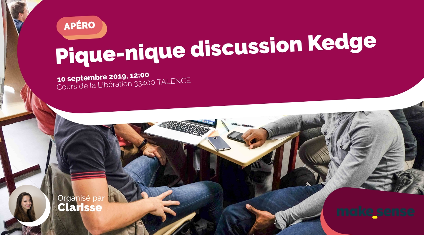 Image de l'événement : Pique-nique discussion Kedge