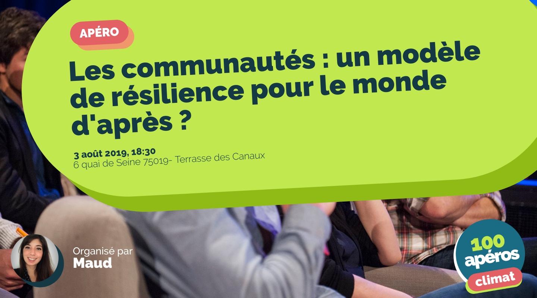 Image of the event : Les communautés : un modèle de résilience pour le monde d'après ?