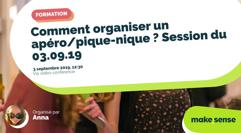 Image of the event : Comment organiser un apéro/pique-nique ? Session du 03.09.19