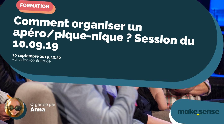 Image de l'événement : Comment organiser un apéro/pique-nique ? Session du 10.09.19