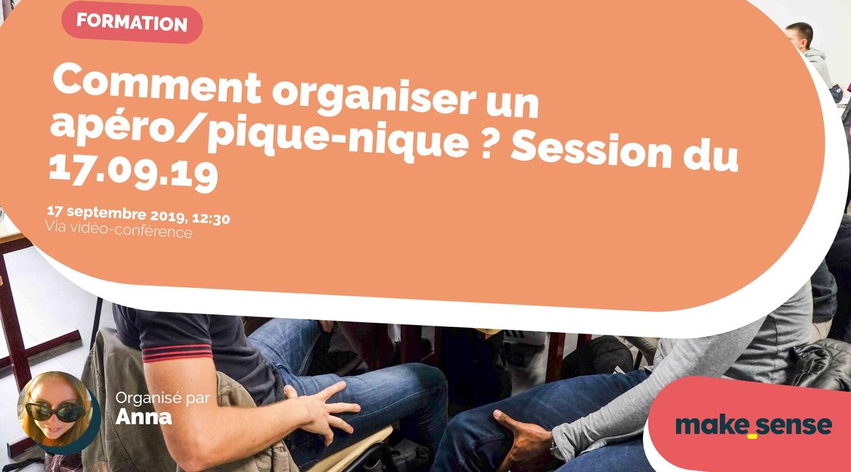 Image of the event : Comment organiser un apéro/pique-nique ? Session du 17.09.19