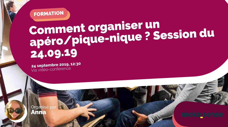 Image de l'événement : Comment organiser un apéro/pique-nique ? Session du 24.09.19