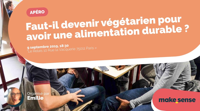 Image de l'événement : Faut-il devenir végétarien pour avoir une alimentation durable ?