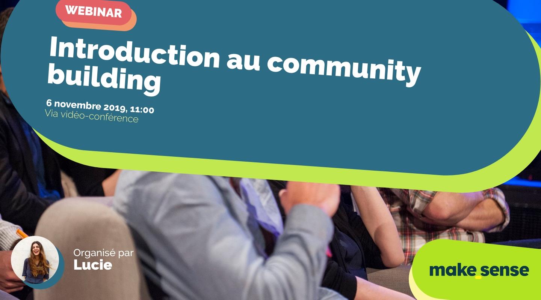 Image de l'événement : Introduction au community building