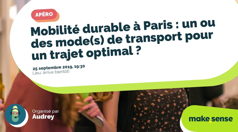 Image de l'événement : Mobilité durable à Paris : un ou des mode(s) de transport pour un trajet optimal ?