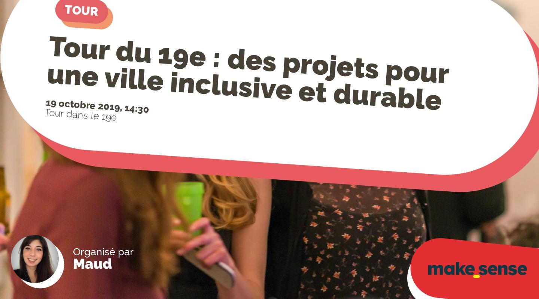 Image de l'événement : Tour du 19e : des projets pour une ville inclusive et durable