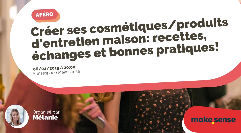 Image of the event : Créer ses cosmétiques/produits d'entretien maison: recettes, échanges et bonnes pratiques!
