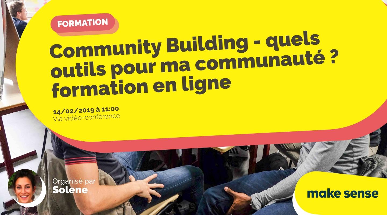 Image of the event : Community Building - quels outils pour ma communauté ? formation en ligne