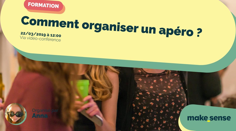 Image de l'événement : Comment organiser un apéro ? Session du 22.03.19