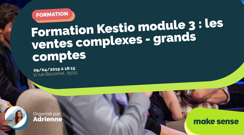 Image de l'événement : Formation Kestio module 3 : les ventes complexes - grands comptes