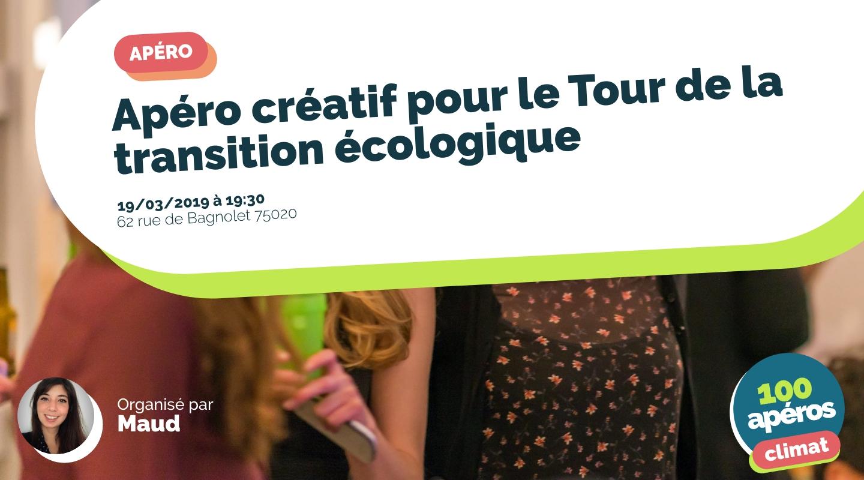 Image de l'événement : Apéro créatif pour le Tour de la transition écologique