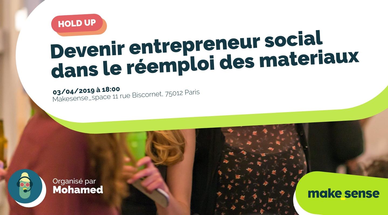 Image de l'événement :  Devenir entrepreneur social dans le réemploi des materiaux