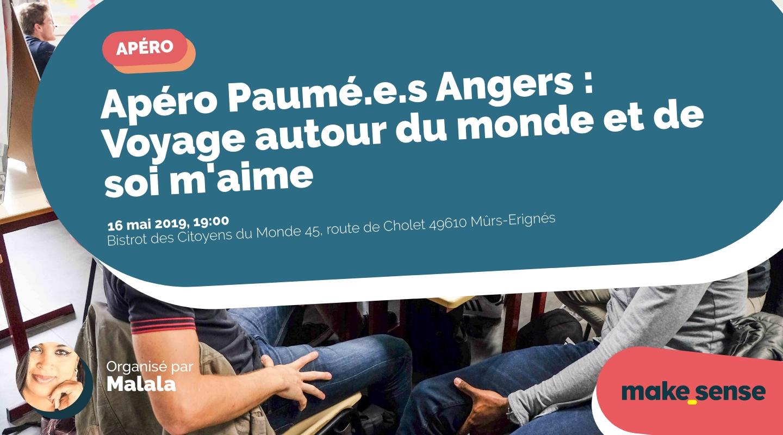 Image of the event : Apéro Paumé.e.s Angers : Voyage autour du monde et de soi m'aime