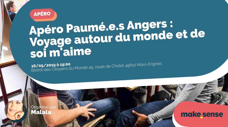 Image de l'événement : Apéro Paumé.e.s Angers : Voyage autour du monde et de soi m'aime