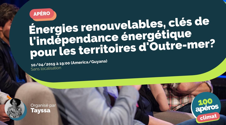 Image de l'événement : Énergies renouvelables, clés de l'indépendance énergétique pour les territoires d'Outre-mer?