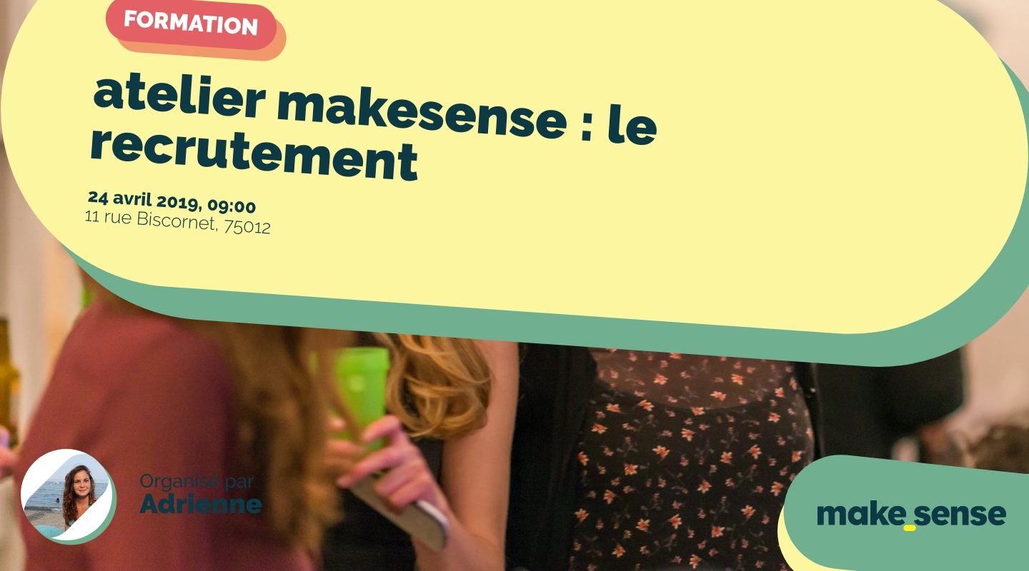 Image of the event : atelier makesense : le recrutement