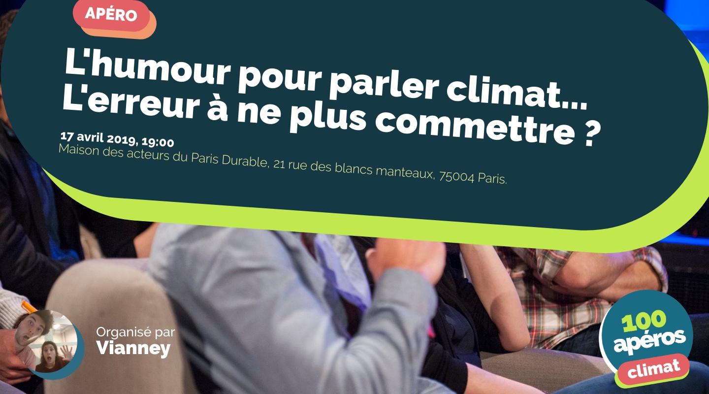 Image of the event : L'humour pour parler climat... L'erreur à ne plus commettre ?