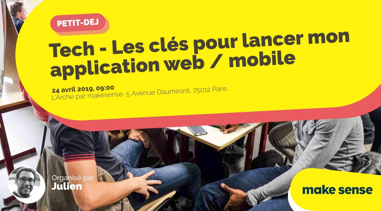 Image de l'événement : Tech - Les clés pour lancer mon application web / mobile