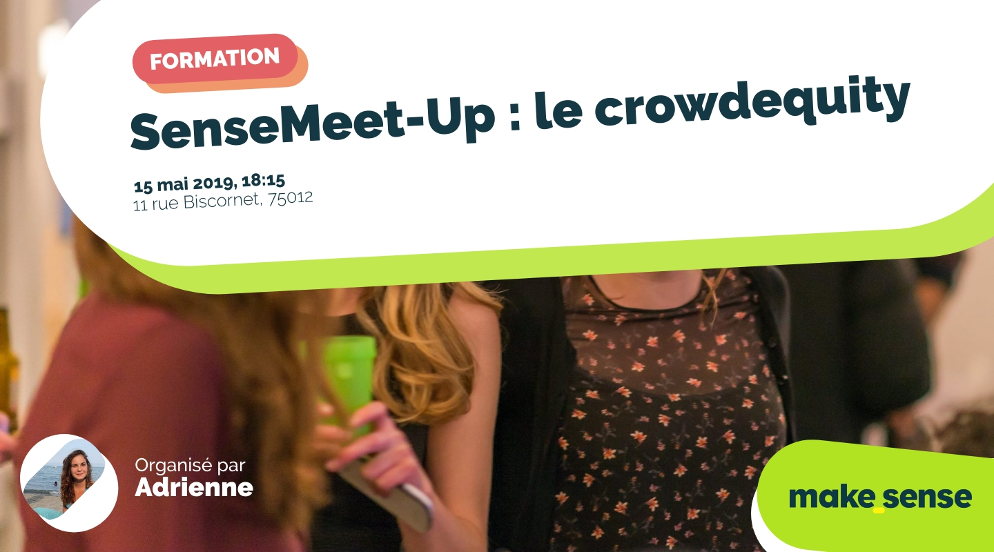 Image of the event : SenseMeet-Up : le crowdequity