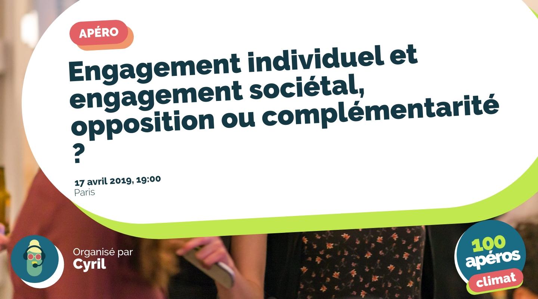 Image of the event : Engagement individuel et engagement sociétal, opposition ou complémentarité ?