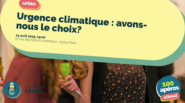 Image of the event : Urgence climatique : avons-nous le choix?