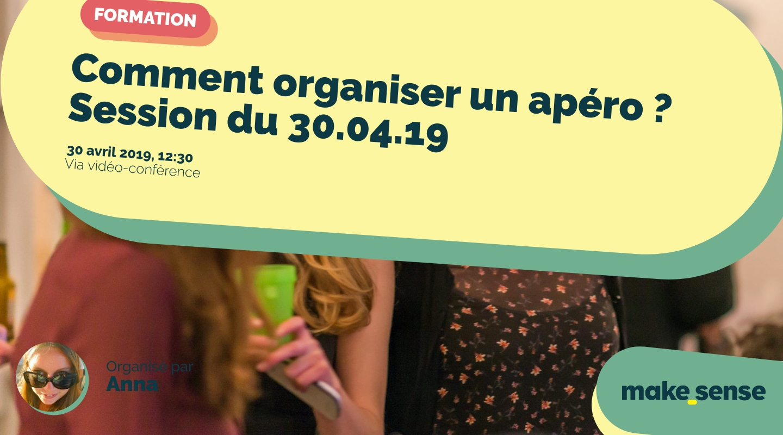 Image de l'événement : Comment organiser un apéro ? Session du 30.04.19