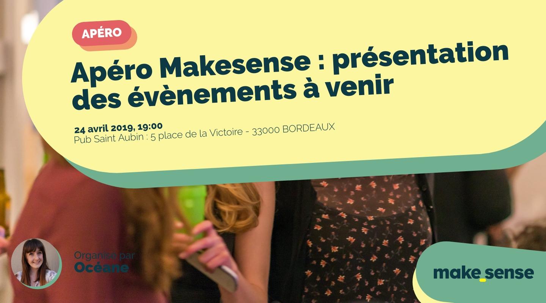 Image de l'événement : Apéro Makesense : présentation des évènements à venir