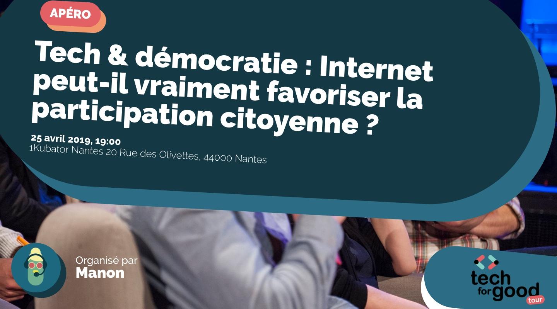 Image de l'événement : Tech & démocratie : Internet peut-il vraiment favoriser la participation citoyenne ?