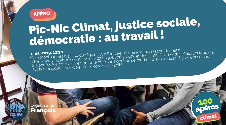 Image of the event : Pic-Nic Climat, justice sociale, démocratie : au travail !