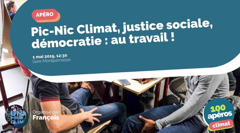 Image de l'événement : Pic-Nic Climat, justice sociale, démocratie : au travail !