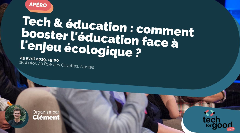 Image de l'événement : Tech & éducation : comment booster l'éducation face à l'enjeu écologique ?