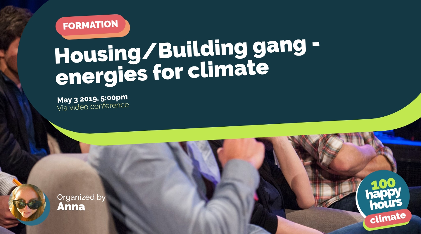 Image de l'événement : Housing/Building gang - energies for climate
