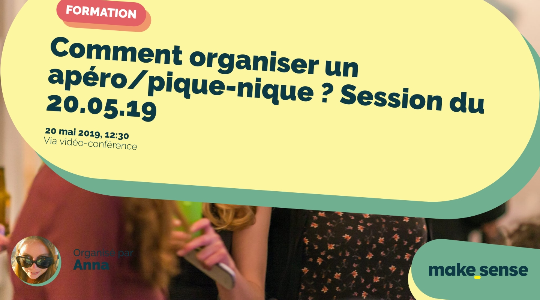 Image of the event : Comment organiser un apéro/pique-nique ? Session du 20.05.19