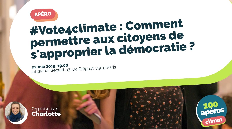 Image de l'événement : #Vote4climate : Comment permettre aux citoyens de s'approprier la démocratie ?