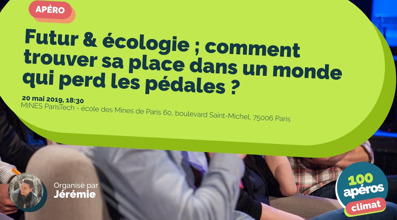 Image of the event : Futur & écologie ; comment trouver sa place dans un monde qui perd les pédales ?